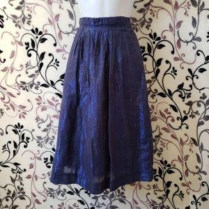 J.Crew Blue Pleated Skirt